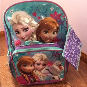 Disney Frozen 3 piece Backpack Set